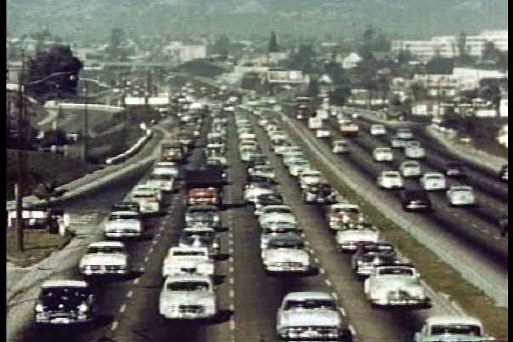 1950s - Freeways become popular during the 1950s.