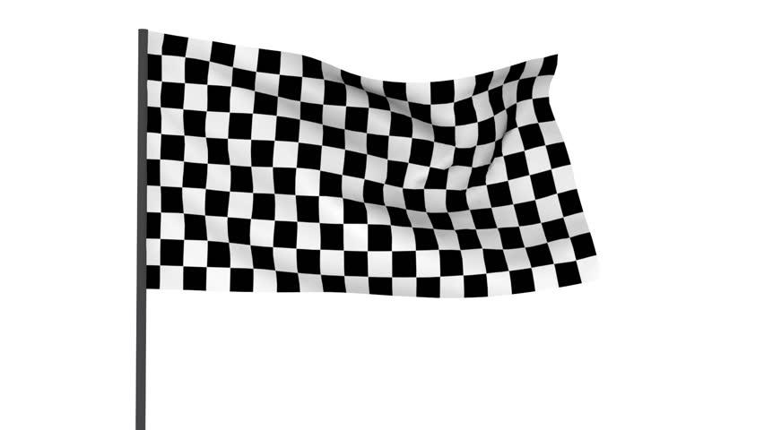 Checkered racing flag with alpha mask