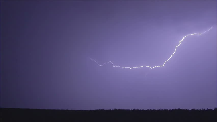 Various lightning bolts strike forest night landscape, sound included | Shutterstock HD Video #4054792