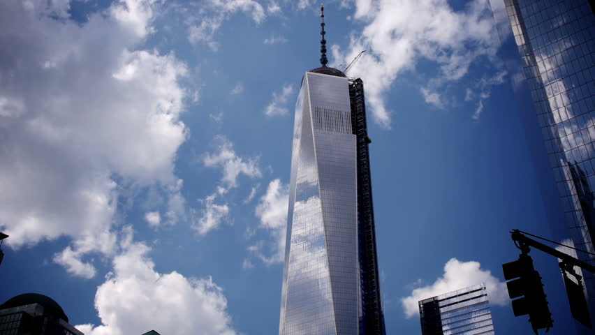 NEW YORK - CIRCA JUNE 2013: A time lapse of the Freedom Tower during the last