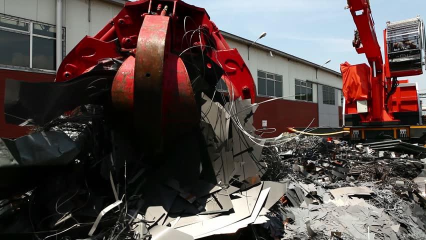 scrap metal area