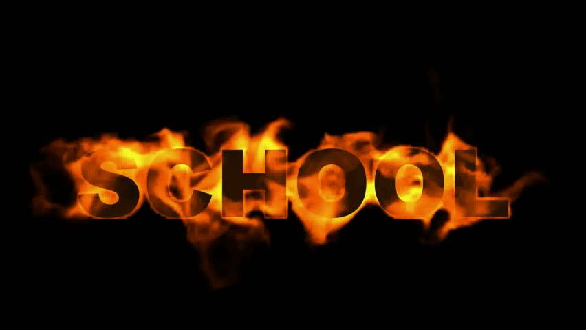 School Word,fire Text. Stock Footage Video 4141888 - Shutterstock