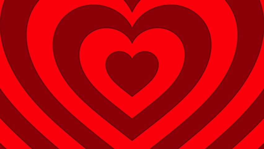 Seamless Looping Red and White Heart Animated Background