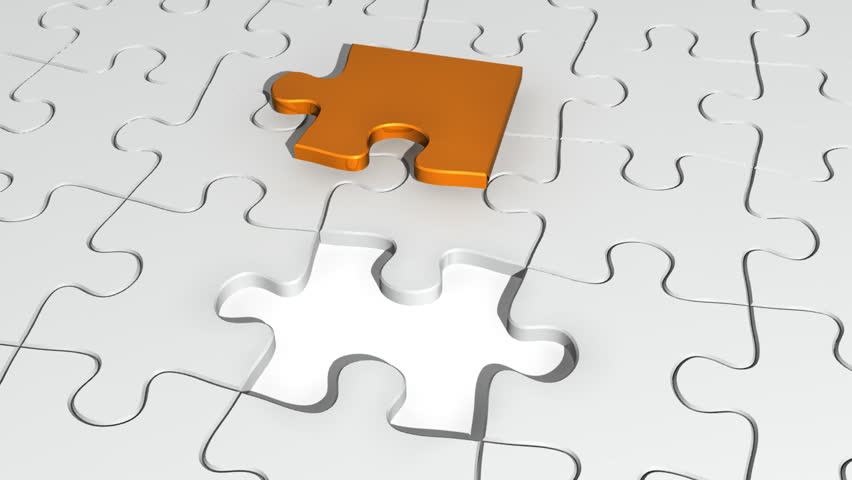 Jigsaw Puzzle Stock Footage Video - Shutterstock