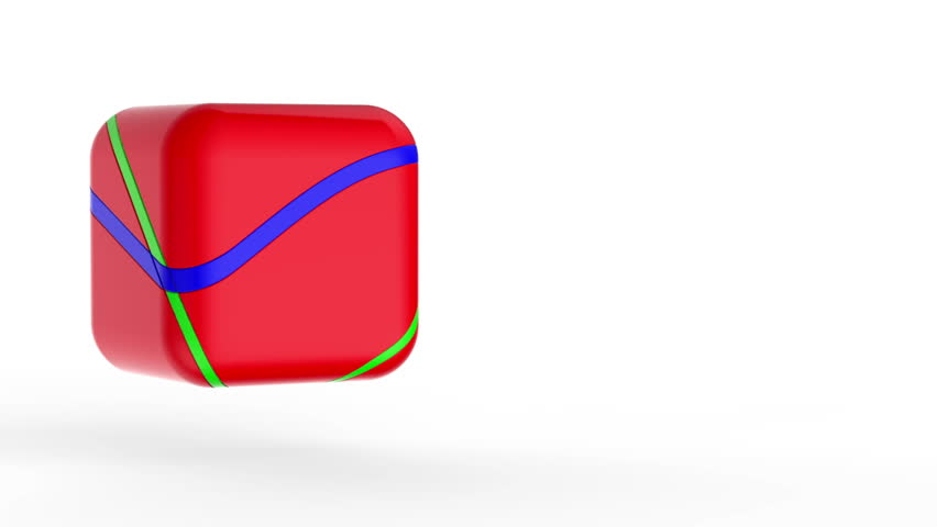 Red cube on white
