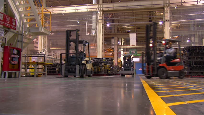 Manufacturing Production Line in Automotive Factory
