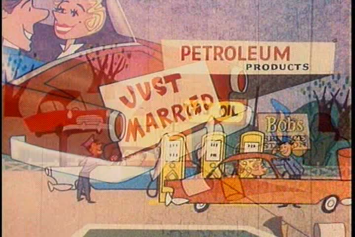 1950s - A space exploring Martian is in awe of the resource petroleum and figures out how its found and used during the 1950s