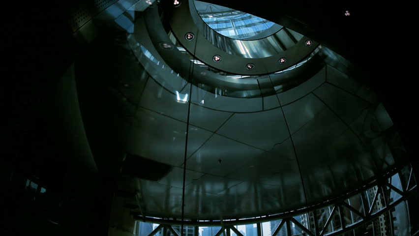 Ascending city elevator in modern skyscraper building, Middle East | Shutterstock Video #4234868