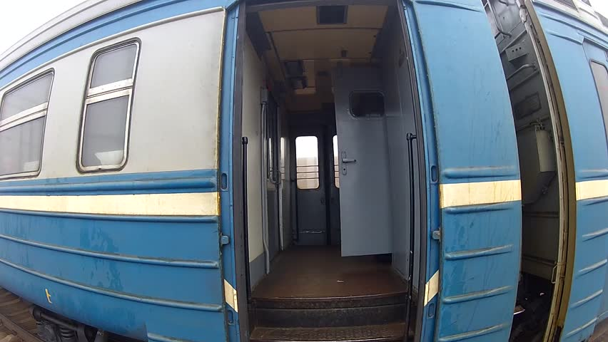 Tourist is entering to the train. First-person view. pov | Shutterstock HD Video #4255556