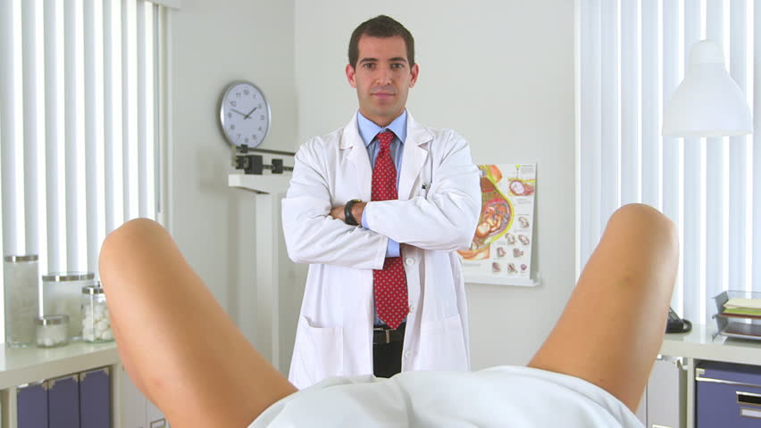 Gynecologist Examining With Ultrasound Pregnant Woman, Close Up ...