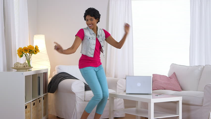 living room dancers footage stock 10698