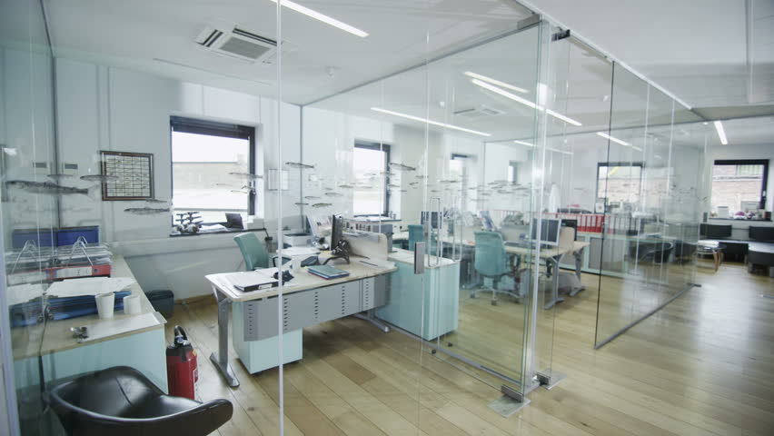 View around a stylish contemporary office space with no people   Shutterstock HD Video #4389074