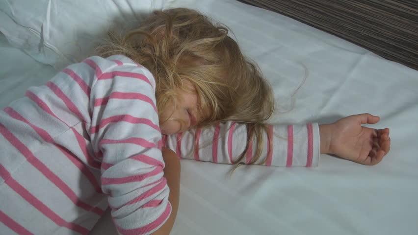 Child, Little Girl Eating, Licking Ice Cream On Hot, Torrid Summer Day, Children Stock -8412