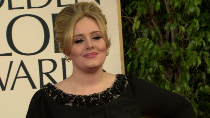 BEVERLY HILLS - January 13, 2013: Adele at the Golden Globe Awards 2013 in the Beverly Hilton Hotel in Beverly Hills January 13, 2013