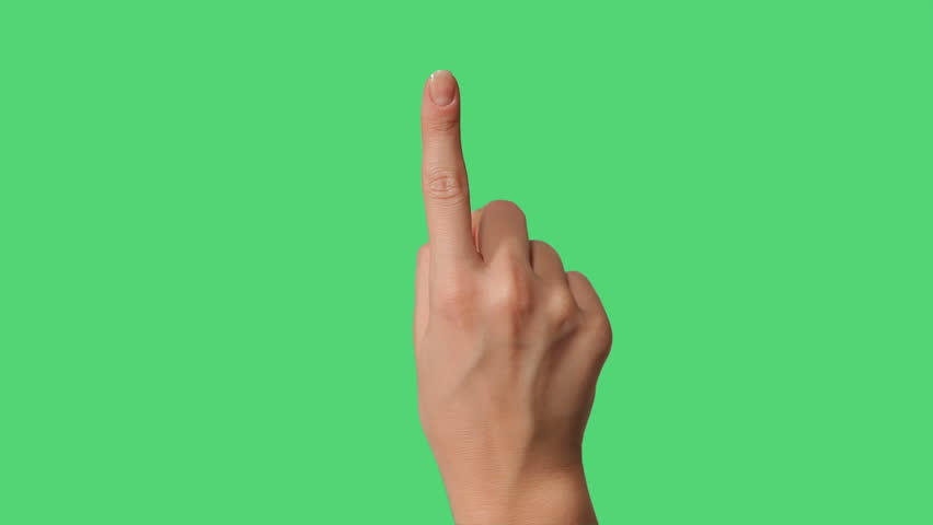 Touch Screen Hands Gestures on green screen for smart phone and tablet two
