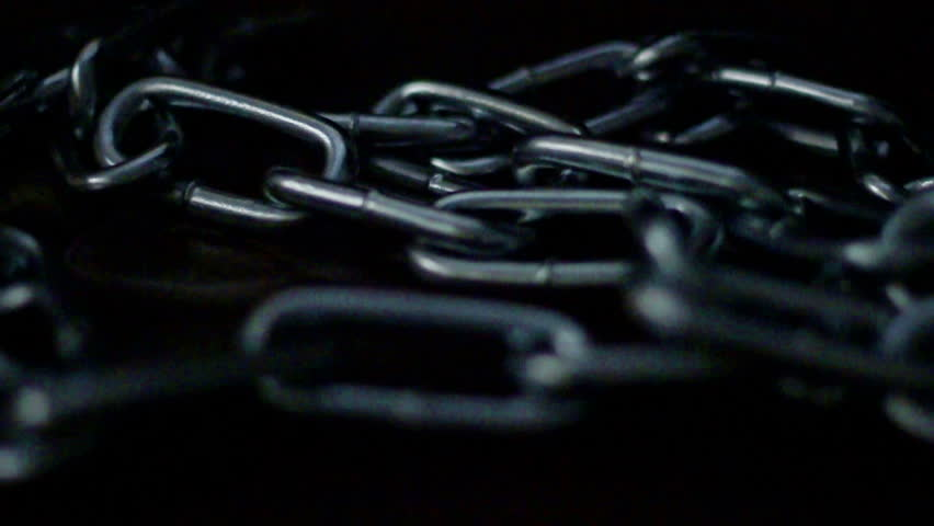 Burning stainless steel chain