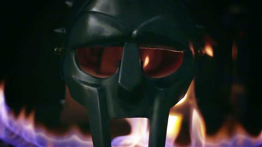 Burning gladiator helmet