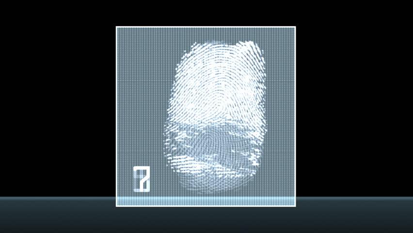 Fingerprint test - digital animation   Shutterstock HD Video #456274