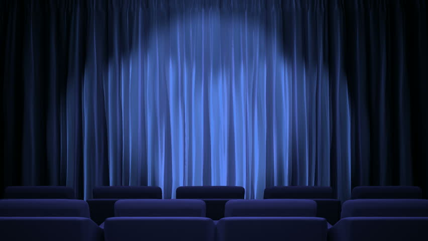 Blue Stage Curtain Stock Footage Video - Shutterstock