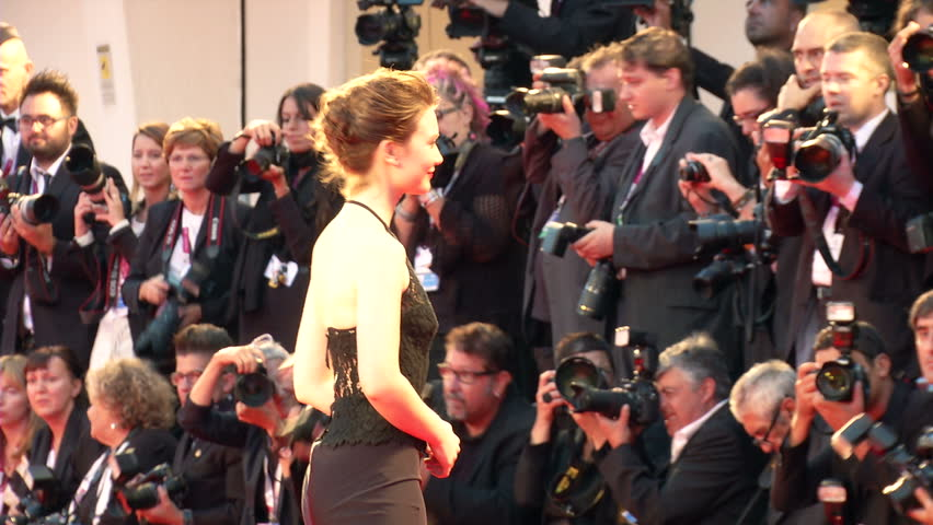 VENICE - AUGUST 29: Australian actress Mia Wasikowska on the red carpet for the movie
