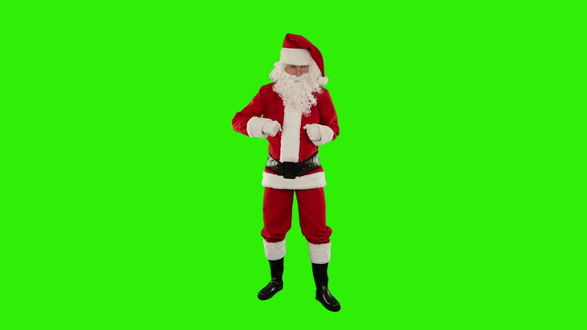 Santa Claus Dancing isolated, Dance 5, Green Screen