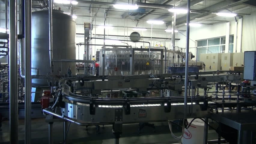 Beer factory brewery construction and plastic bottle line