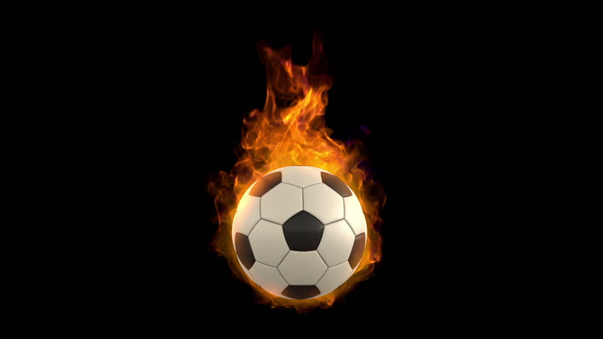 The Ball On Fire Soccer Football Sports Qhd Wallpaper 2: Burning Ball, Beautiful Tongues Of Fre And Flame, High