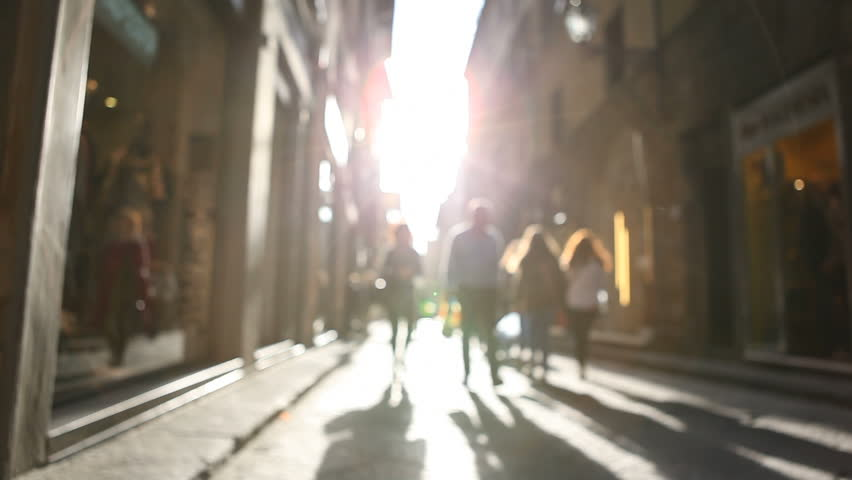 Shopping street in Italy