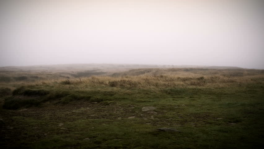Misty Yorkshire Moor Monument.