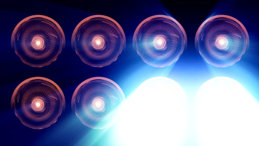 Spotlights And Lens Bulb ( Series 12 - Version from 1 to 8 )    Shutterstock HD Video #4805558