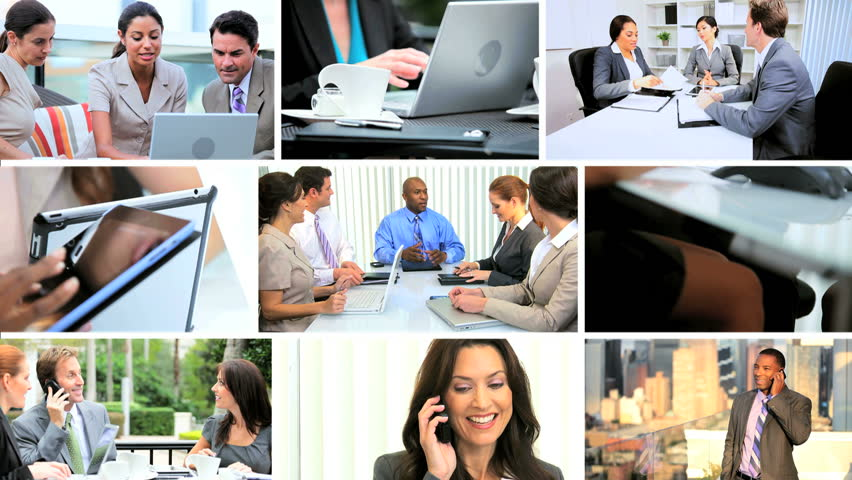 Business montage of multi-ethnic managers closing deals with colleagues | Shutterstock HD Video #4805981