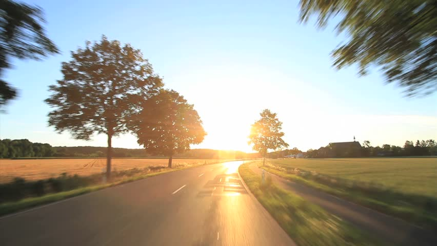 Driving - Driving shot with roof mounted camera on a road in Germany.  | Shutterstock HD Video #4822022