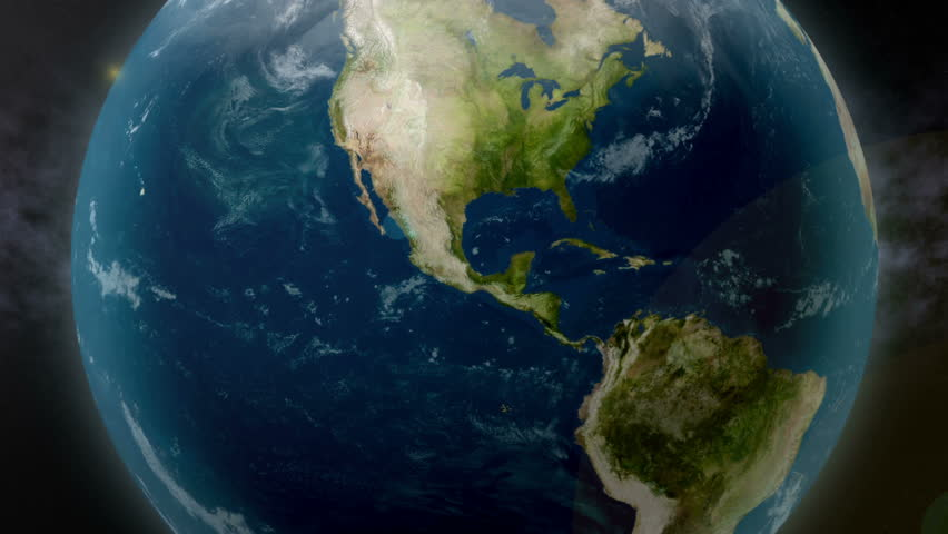 Earth zoom to Mexico.