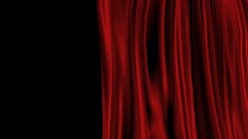 Opening And Closing Red Curtain. 3d Animation Stock Footage Video ...