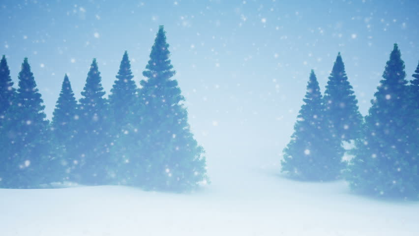 Snow and Christmas trees. HD 1080. Seamless loop | Shutterstock HD Video #4917146