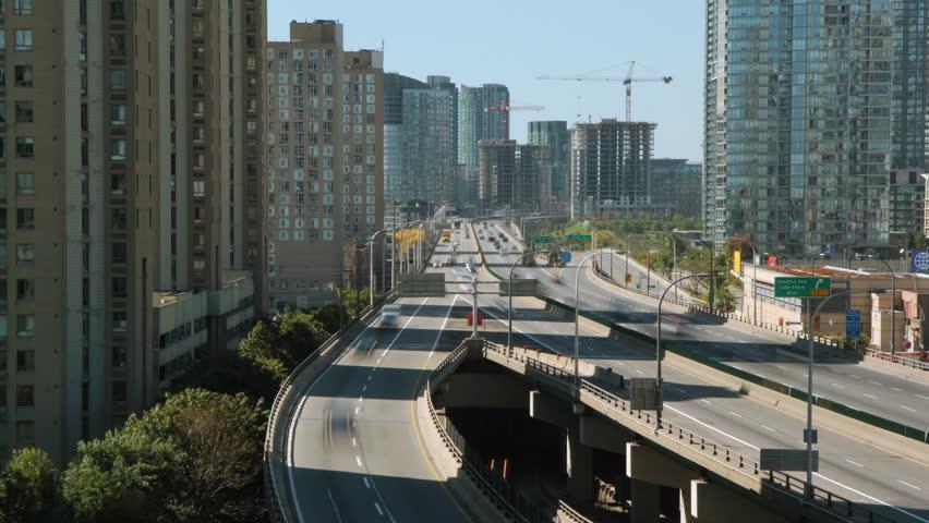 Gardiner Expressway : Gardiner expressway stock footage shutterstock
