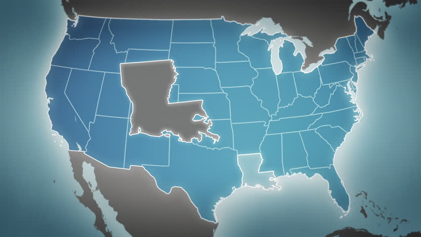 K North America Flag Map X Seconds Inserts With Depth Of Field - 4k image of us map