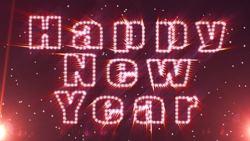 Happy New Year Greeting Abstract Background