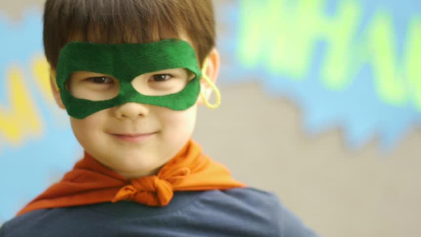 Superhero Boy Smiles And Jumps | Shutterstock HD Video #4986404