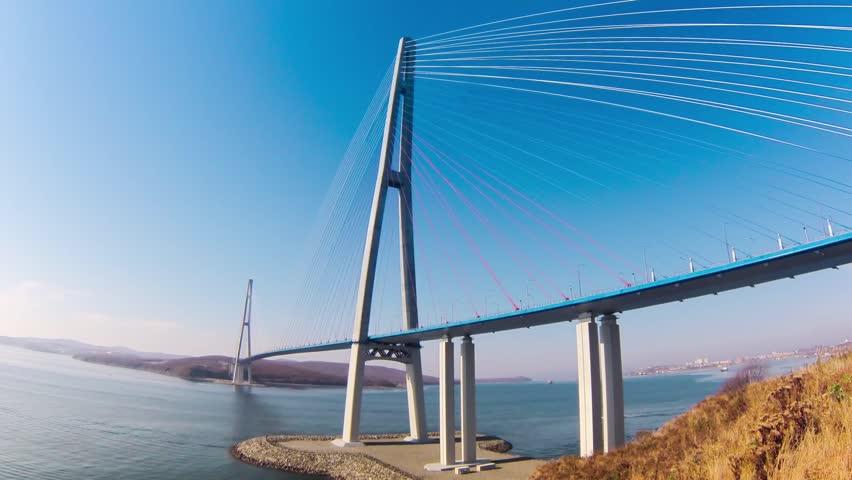 cable-stayed bridge to Russian Island. Vladivostok. Russia. Vladivostok is the