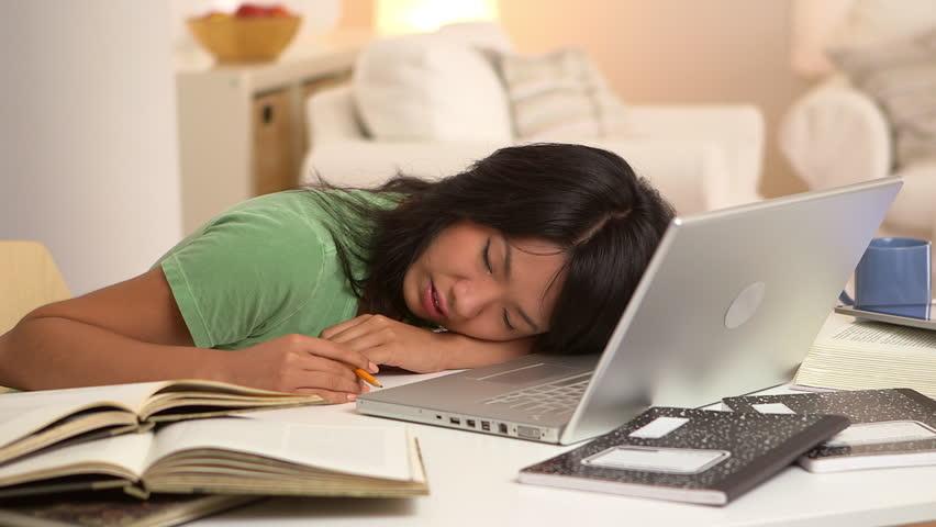 Sleeping While Doing Homework Clip - image 3