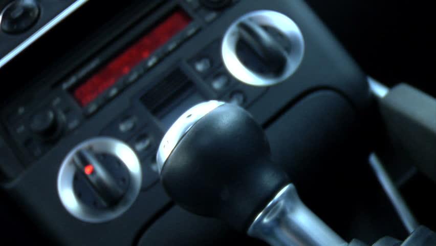 Sports car knob shifting
