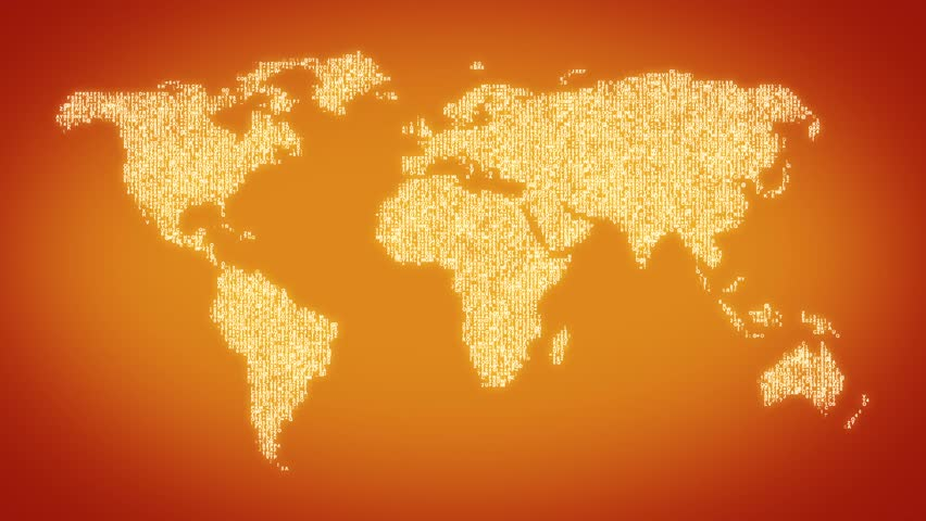 World map stock footage video shutterstock - World of color wallpaper ...