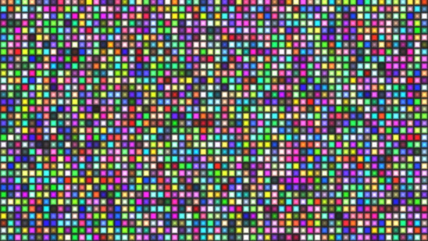 Motion background with random tiles (lights) in mosaic shape - seamless loop, full HD, 8sec/30fps. | Shutterstock HD Video #5087624