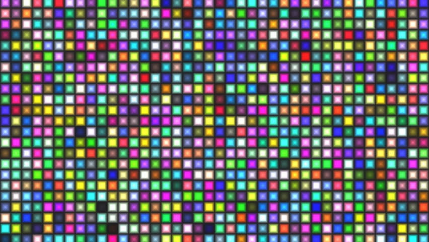 Motion background with random tiles (lights) in mosaic shape - seamless loop, full HD, 8sec/30fps. | Shutterstock HD Video #5087645
