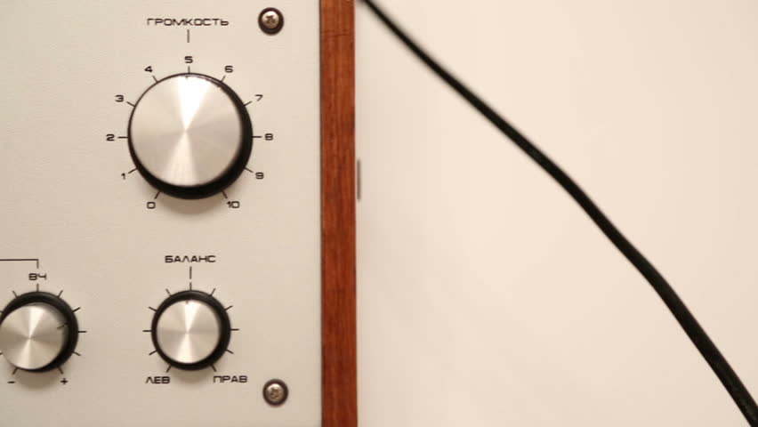 control panel of old reel tape recorder - dolly shot