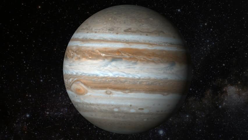 Planet Jupiter Beautiful 3d Animation Of Jupiter Planet ...