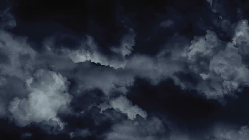 Dark Heavy Cumulus Clouds With Lightning In Thunderstorm ... |Cumulus Clouds Lightning