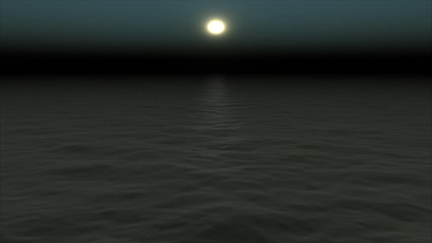 Calm Water Texture treacherously calm water in full moon and moon smoke - computer