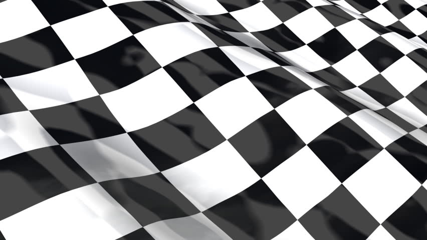 Checkered racing flag - seamless looping with reflection HDTV